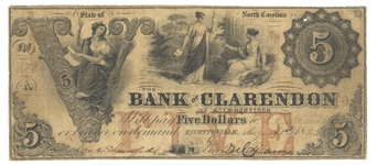 Obsolete North Carolina bank Note