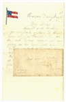 Rare Seven Star CSA 1st National Banner Letter Head From Stonewall Brigade Soldier Heading off To War