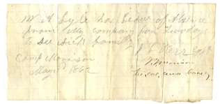 Rare 1st Georgia Cavalrymans Leave of Absence Signed By Col. Morrison