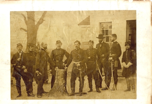 Brady Photograph - Major General George B. McClellan and Staff