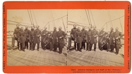 Admiral Dahlgren and Staff  On Board the Ship