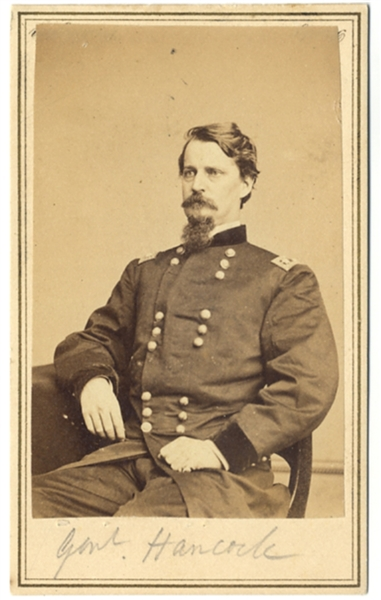CDV of Major-General Winfield Scott Hancock