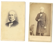 Gettysburg Orator Edward Everitt and New York Tribune Editor Horace Greeley CDVs