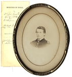 Albumen Image And Muster-In Roll For Isaac D. Landis 9th Pennsylvania Calvary