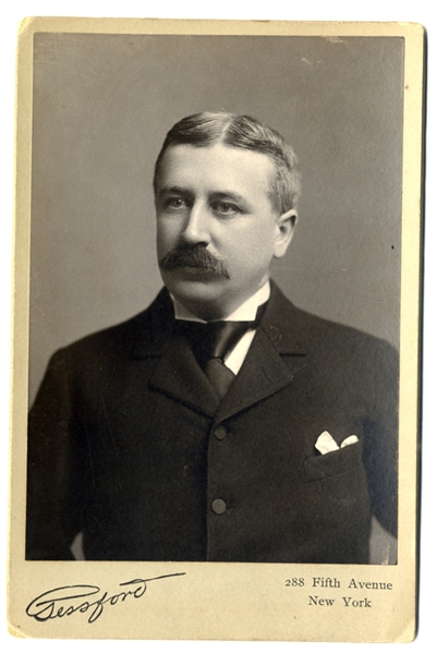 Cabinet Photo of Famous Business Criminal, Charles W. Morse