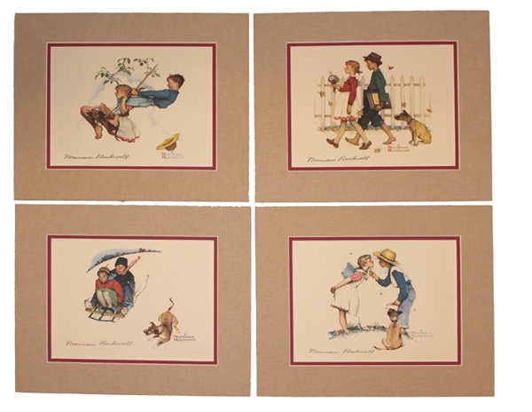 American Set of Signed Rockwell Prints