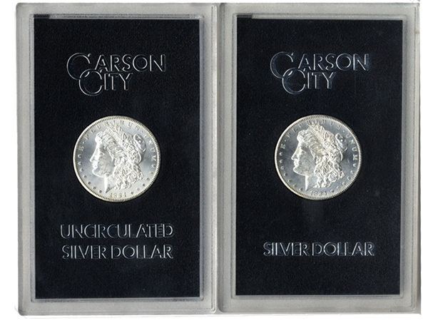 A Pair of 1884 Carson City Silver Dollar
