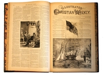 "Complete Bound Volume of the ""Illustrated Christian Weekly"""