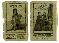 Barnum's Pitch Booklet - Admiral Dot & the Bearded Girl