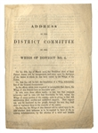Campaign Circular from Whig Committee