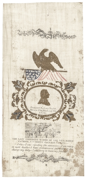 Zachary Taylor Mourning Silk