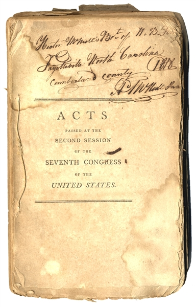 Acts Passed Under Thomas Jefferson's First Congress