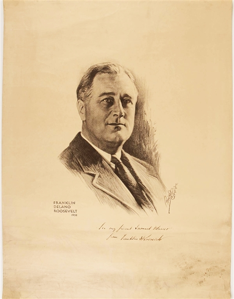 Portrait of FDR, Signed and Inscribed by Roosevelt to Samuel Messer