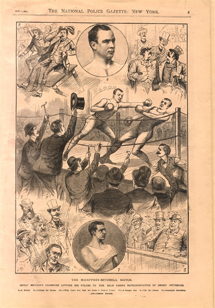 Boxing Reports From 1884