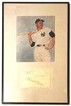 Mickey Mantle Signed Post Card
