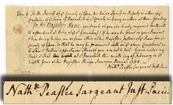 1768 Autograph Document Signed