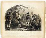 The Execution of Captain Nathan Hale - Clearly Showing the Black Hangman