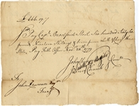 Revolutionary War Pay Voucher