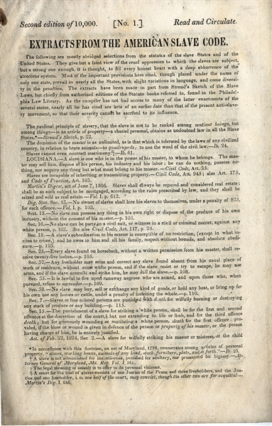 Early Abolition Booklet