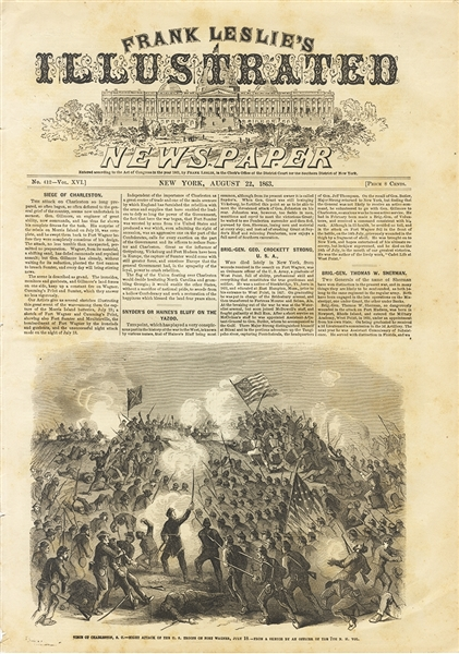 The Assault on Fort Wagner By Noted Artist W.T. Crane  1863