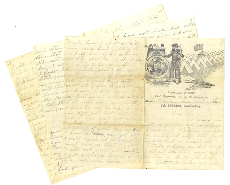 12th Miss. Soldier Writes from Frederick, Md. - Captured Stationary!