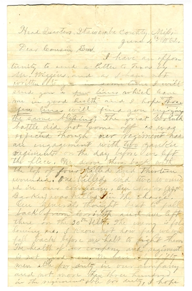 This Texas Soldier Writes of the Battle at Corinth