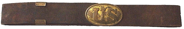 U.S. Enlisted Oval Plate on Buff Leather
