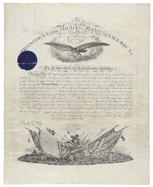 Military Commission, Signed by Lincoln Appointing Arthur Carpenter