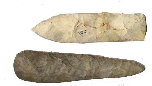 Two Large Spearheads