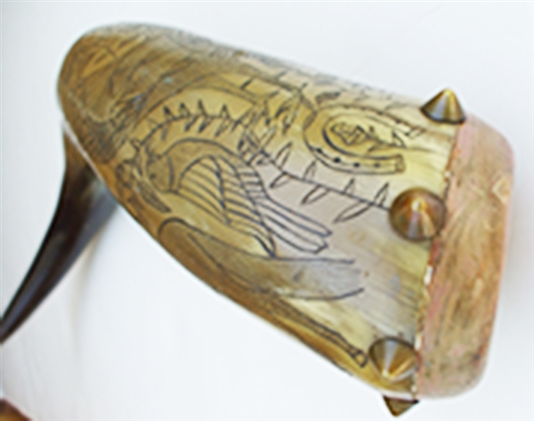 Original Carved Horn