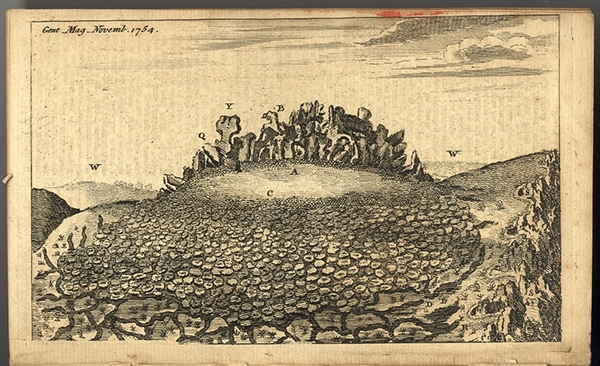 The Famous Christenbury Craigs - 1754 Engraving