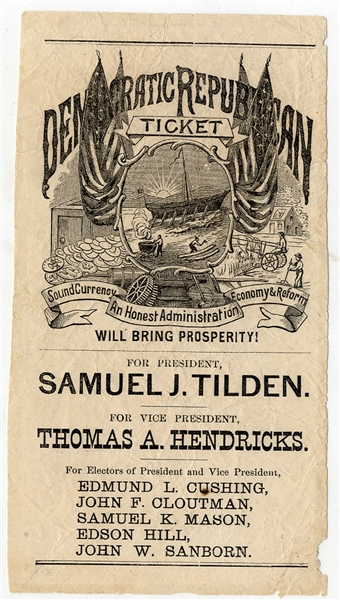 Democratic Republican Ticket 1876