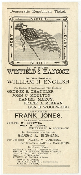 New Hampshire Electoral Ticket for Winfield S. Hancock