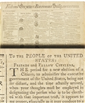 The Complete Printing of President George Washington's Farewell Address