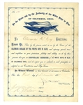 "Anti-Ulysses S. Grant Presidential Campaign ""White Boys"" Certificate"