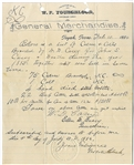 Early Cattle Bill of Sale For One of the Founders of Toyah Texas