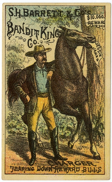 Advertising Card for the Jesse James Show