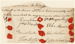 A Document Fragment Signed by Three Prominent New York Revolutionary and Political Leaders