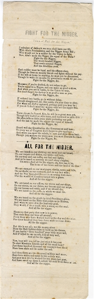 Brutally Racist War Period Broadside Songster