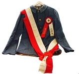 Circa 1870s Ku Klux Klan Hood and Its Owners U.C.V. Parade Coat