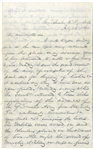 Confederate Letter by Surgeon Joseph B. Amiss