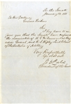 President of the Senate Confirms General Dunovant & Colonel Ripley - Jan. 28, 1861