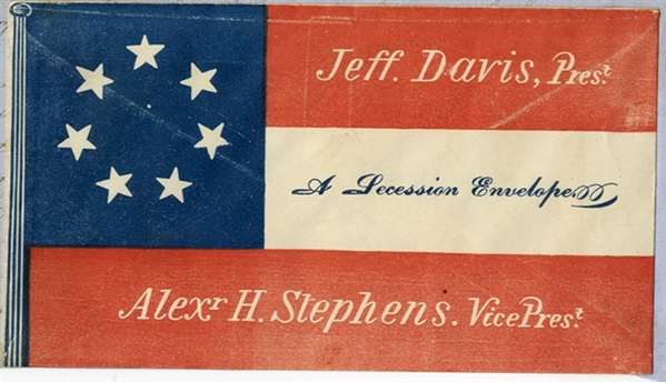 Large Confederate Patriotic Cover