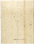 Very Rare US Marine Civil War Dated Letter