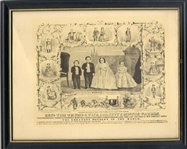 Tom Thumb Wedding Lithograph