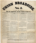 Large Format Broadside Supporting Lincoln's Second Election