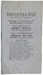 Rare Bell and Everett 1860 Virginia Campaign Ballot