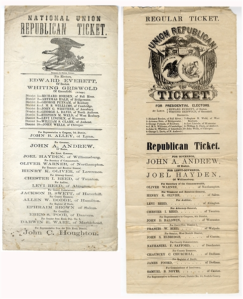 An Enormous Pair of Massachusetts Lincoln Elector Tickets