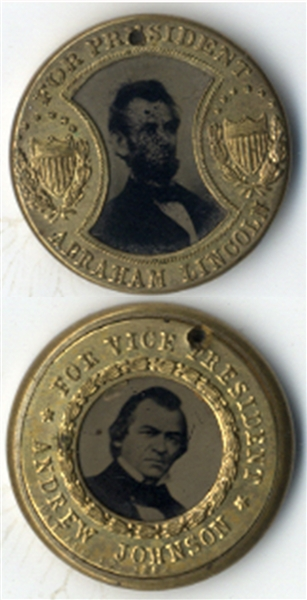 beautiful Lincoln campaign Item - 1864