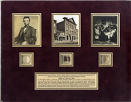 Lincoln Hair, Bandage and Ford's Theater Wood Display